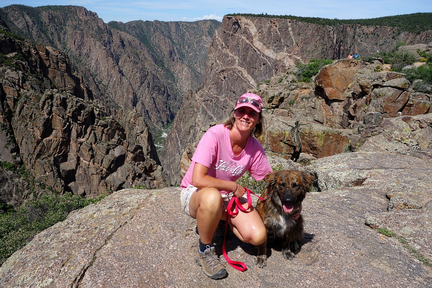 Liesbet & Maya, Black Canyon of the Gunnison NP, Colorado.