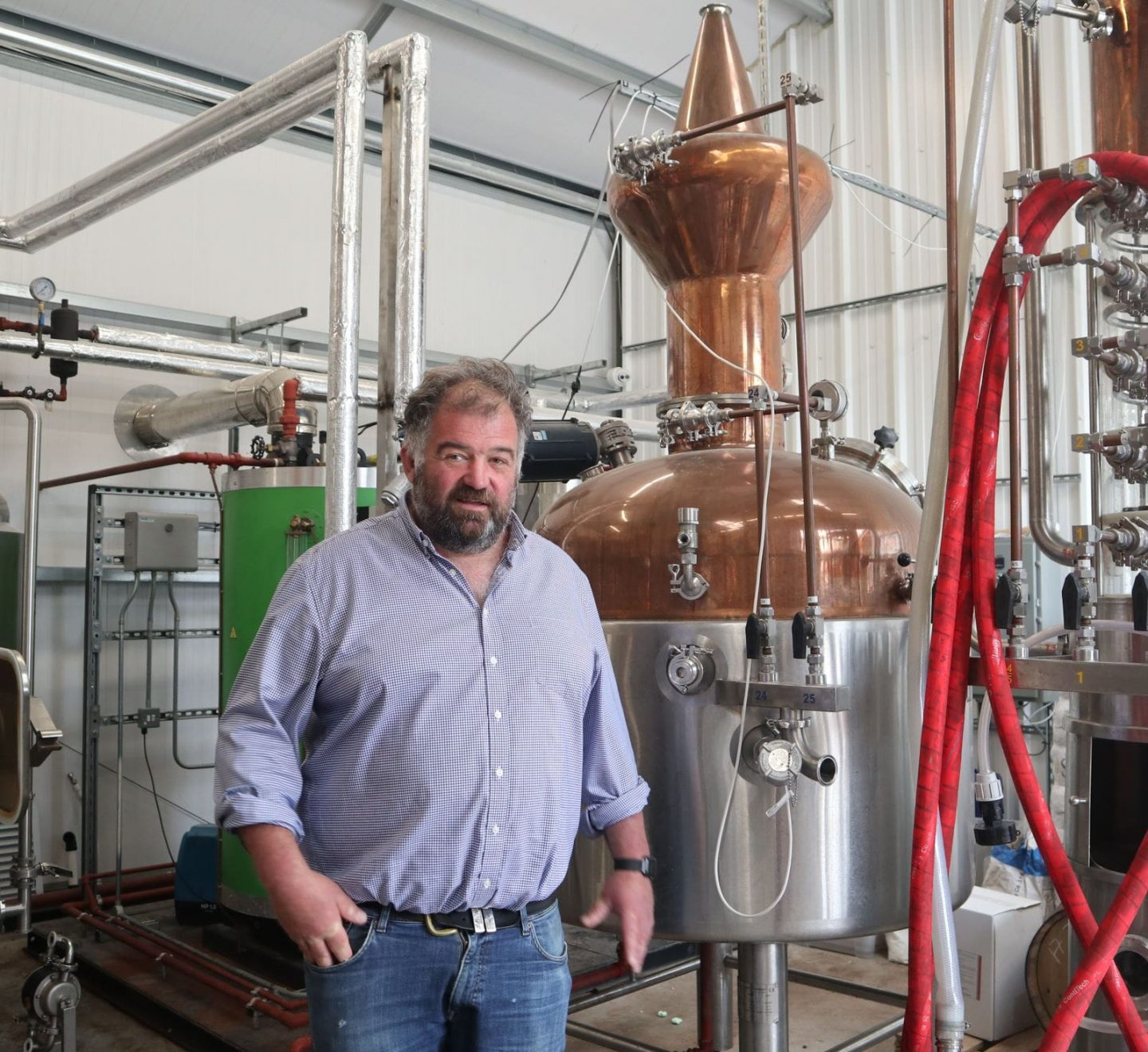 Tour guide for the gin distillery tour - master distiller Toby Whittaker