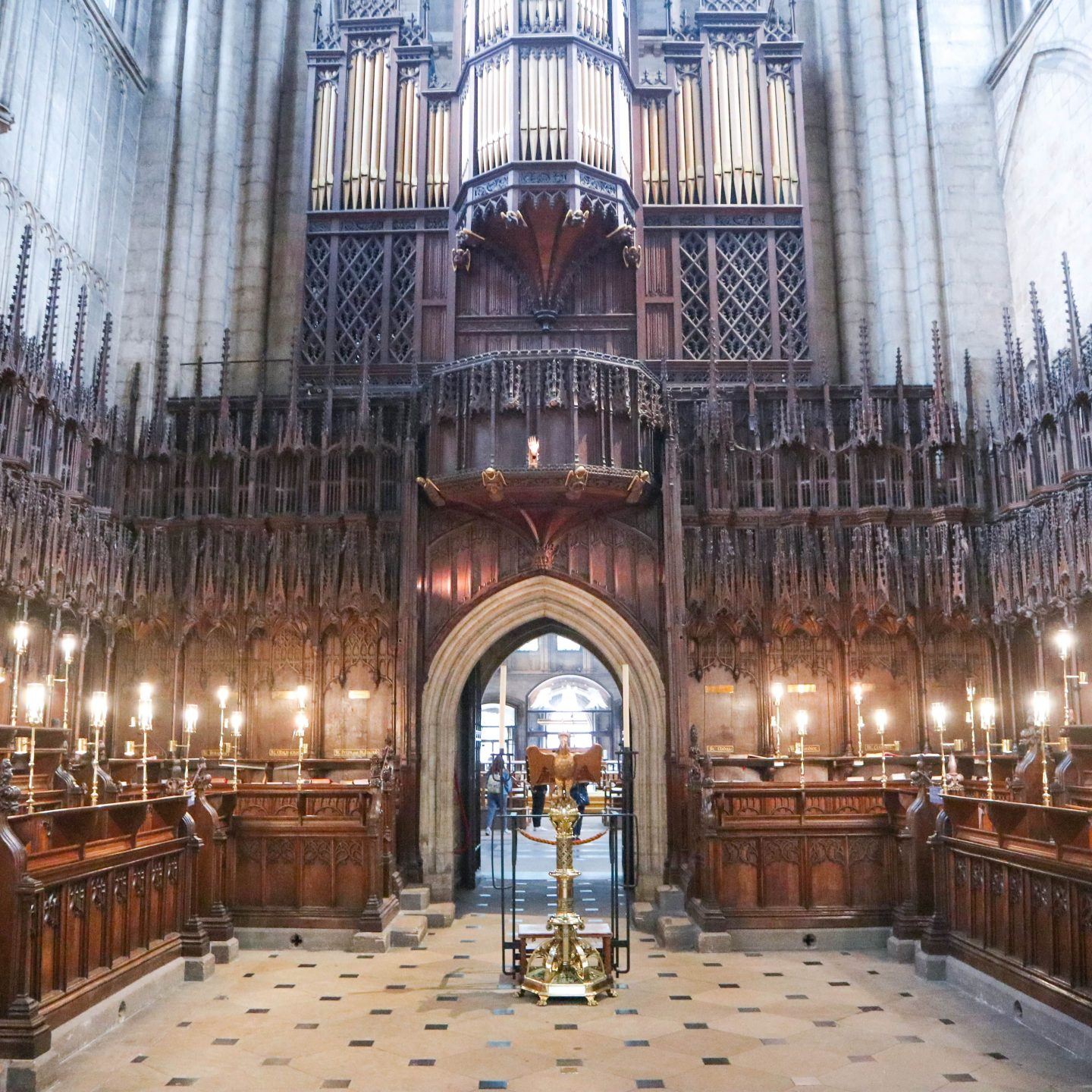 View from the inside of the choir screen at Ripon Cathedral
