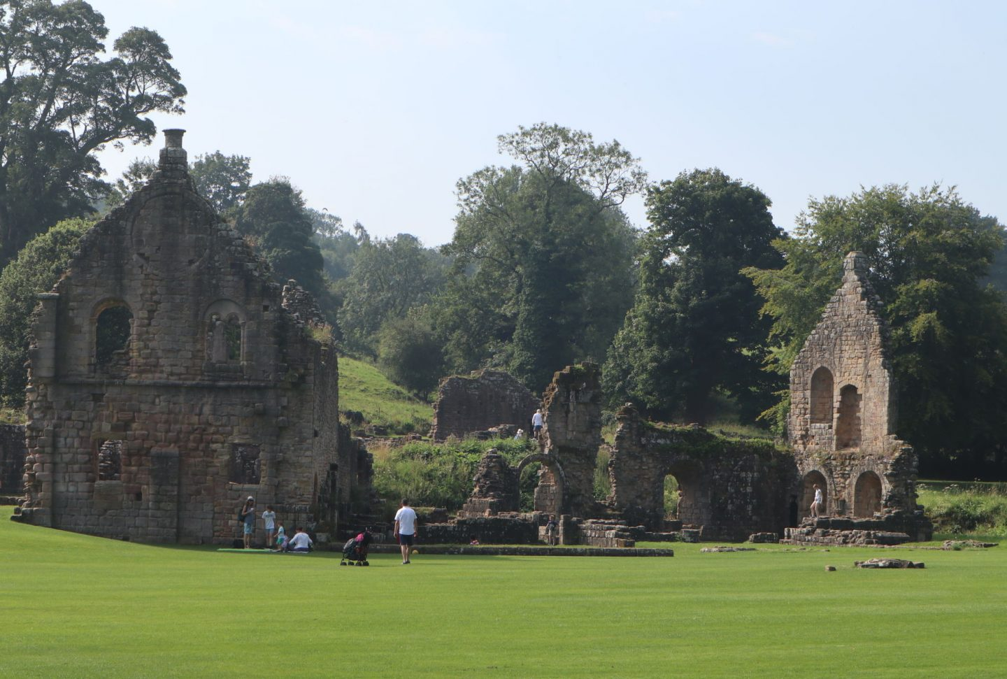 Ruins of Guest House Fountains Abbey Yorkshire