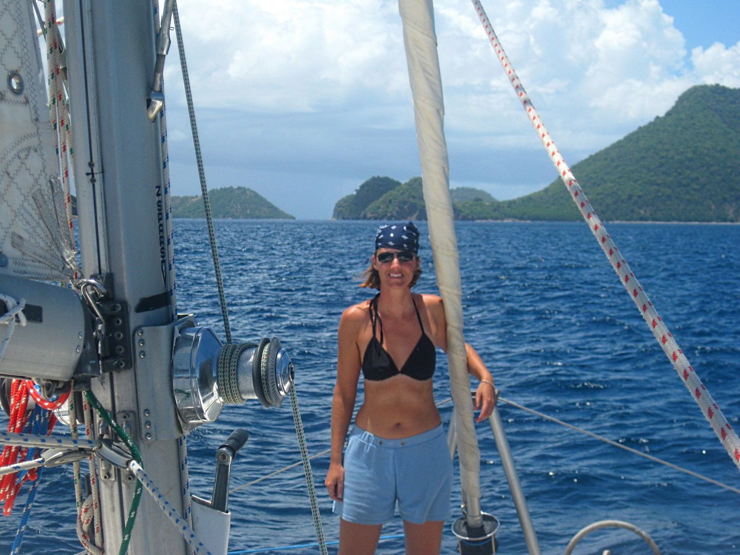 Sailing on Irie in the Caribbean