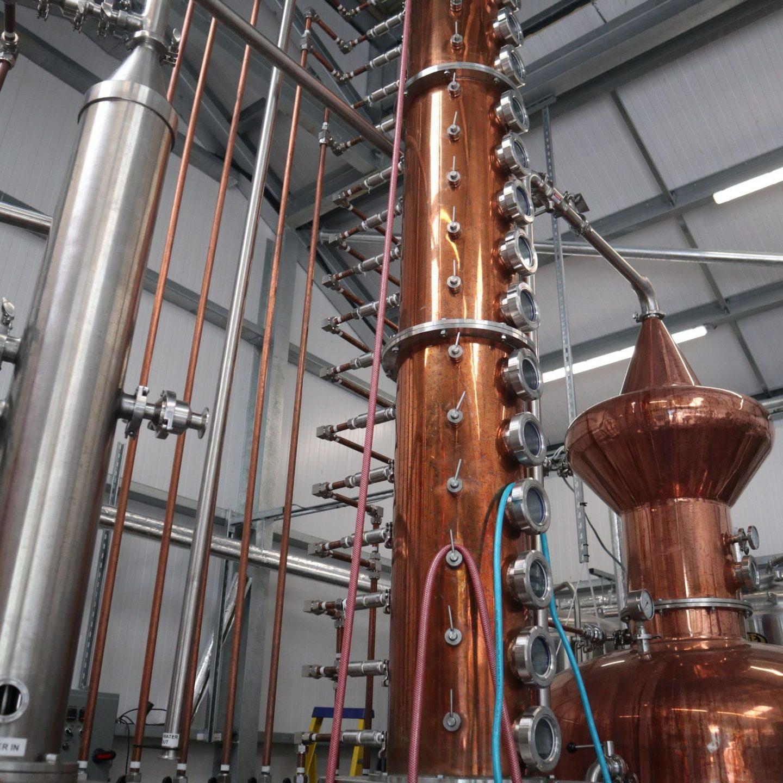 The stills in the gin distillery min
