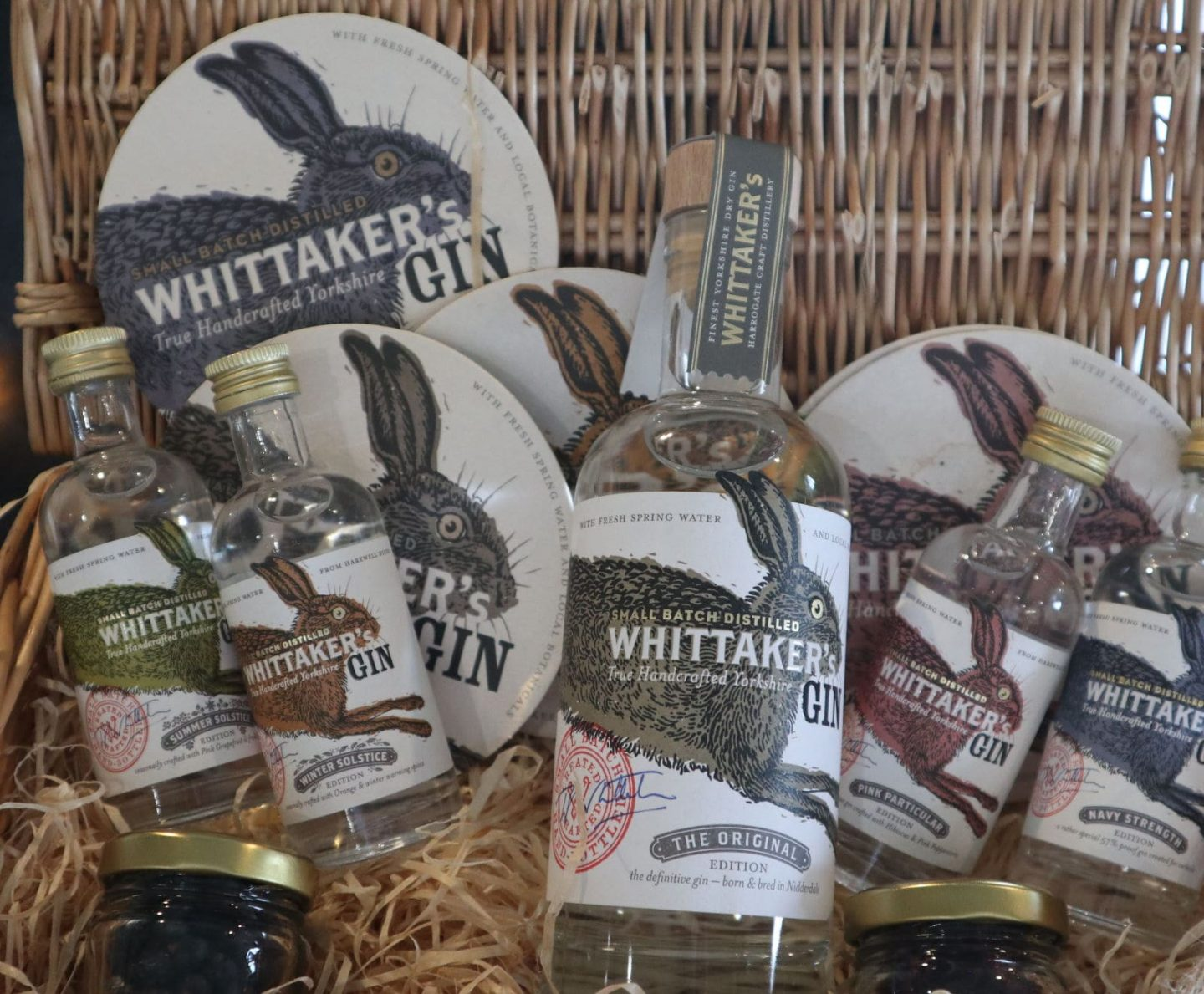 Whittaker's gin labels