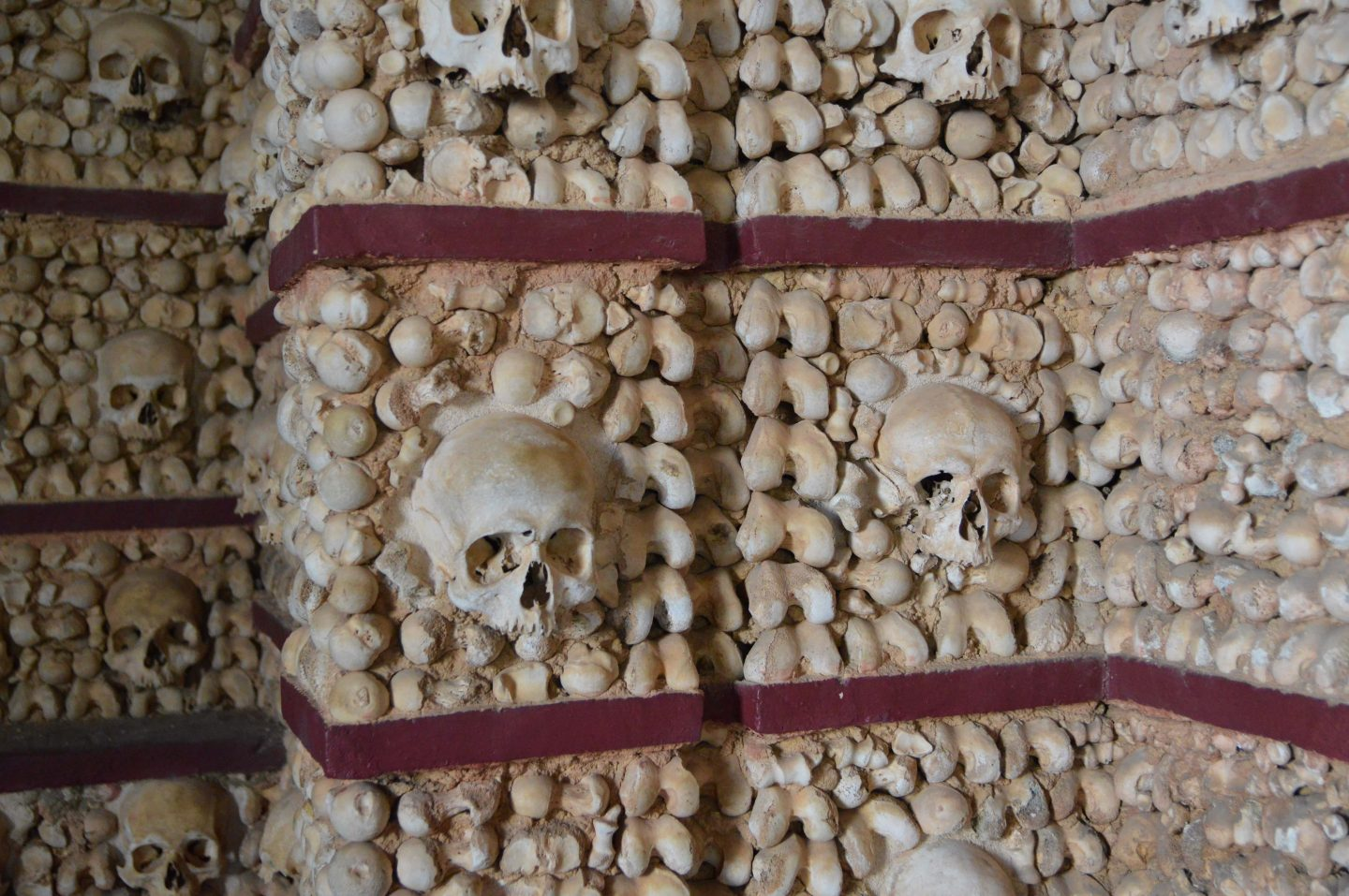 Capela de Ossos (The Bone Chapel), Faro, Portugal ranks as one of the spookiest places in Europe