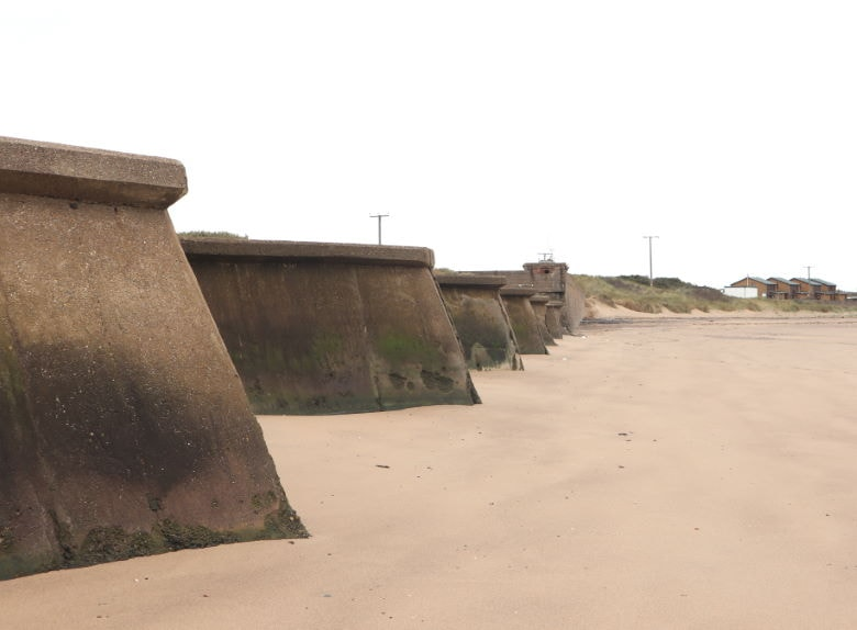 Part of the old Spurn garrison now falling victim to the waves