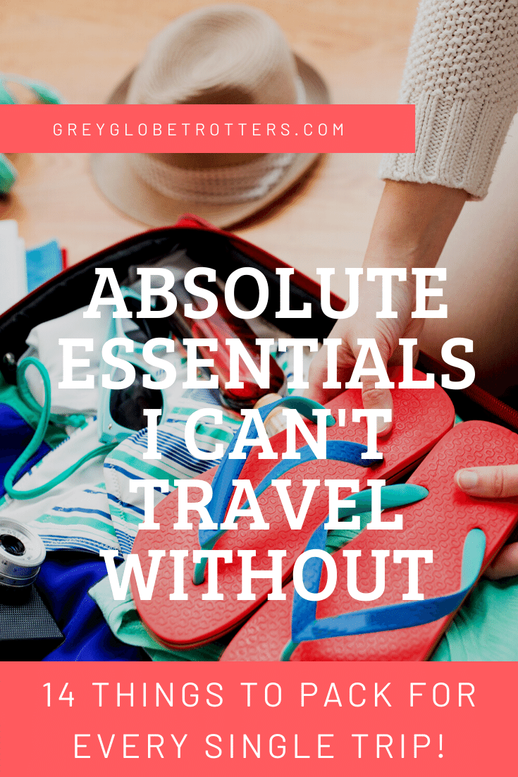List of things I can't travel without