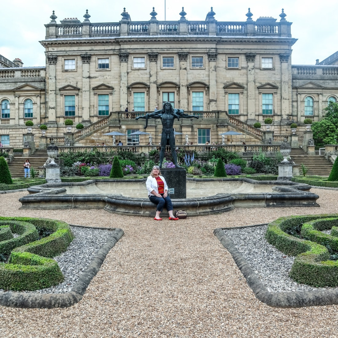 VISITING THE TERRACE AT hAREWOOD hOUSE