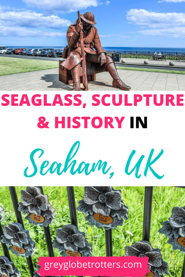 Seaglass, sculpture & history in Seaham, UK