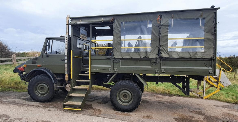 The Unimog vehicle for Spurn Safari trips