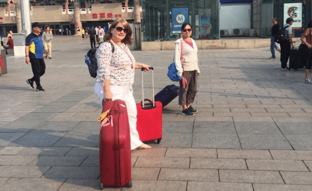 Supervised by my China private tour guide – making sure I got to Beijing station AND onto the bullet train to Xi'an