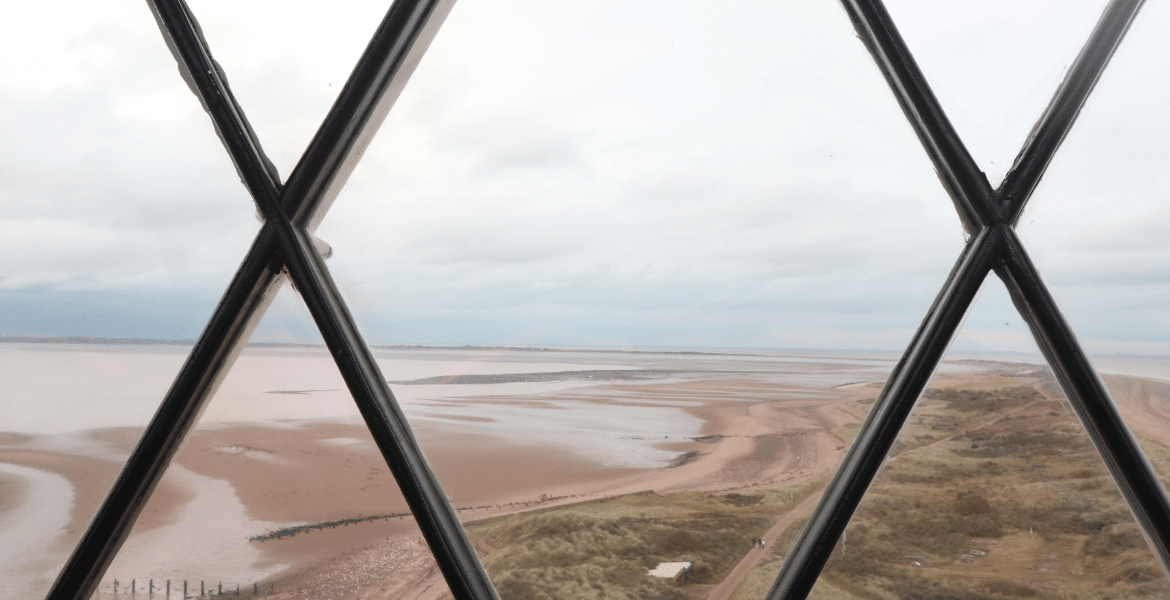 Another view from Spurn lighthouse, across mudflats and sandbanks at low tide