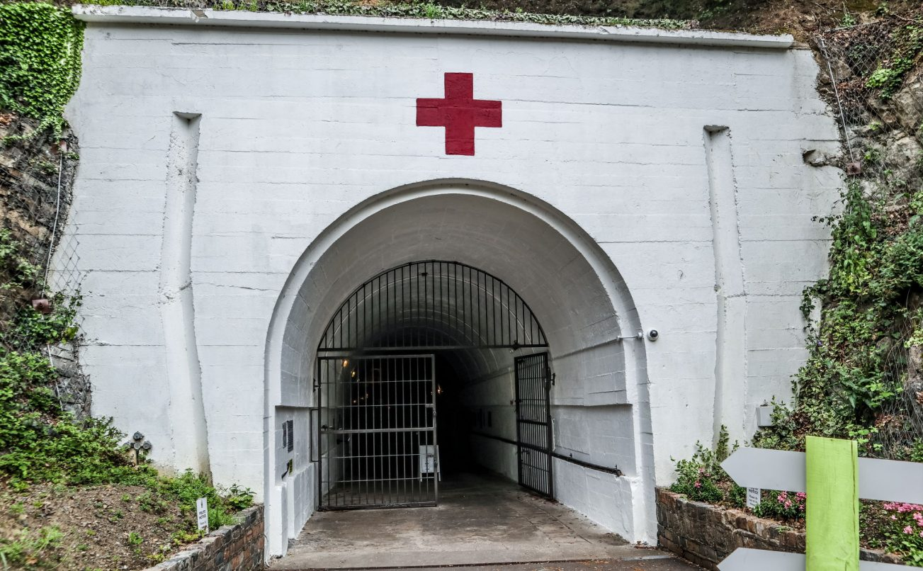 Entrance to the Jersey War Tunnels