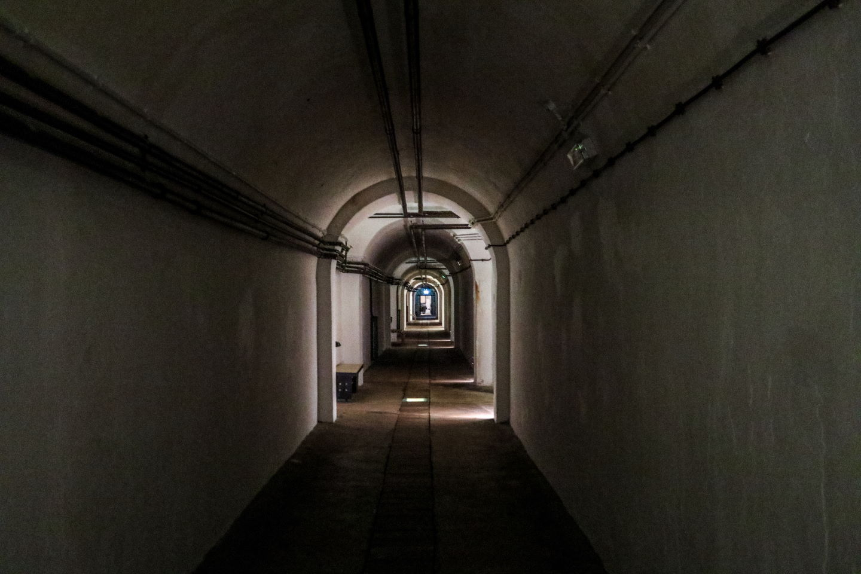 Tunnel inside the Jersey Underground Hospital
