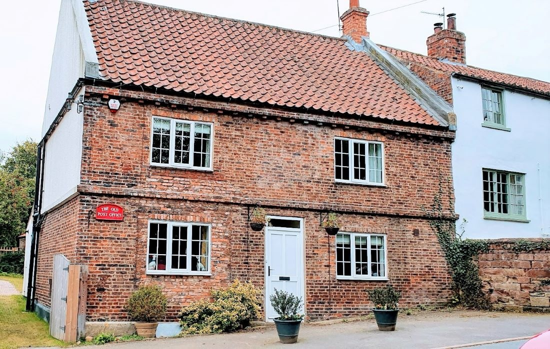 The quaint Post Office in Aldborough is one of the places to include in a day trip from York