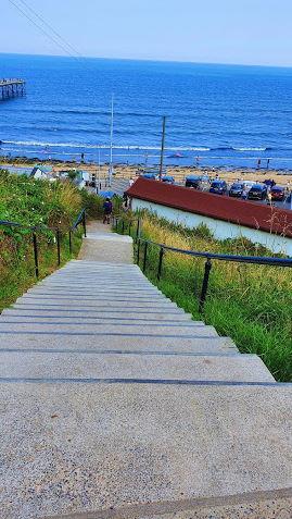 Beach steps Saltburn by the Sea1