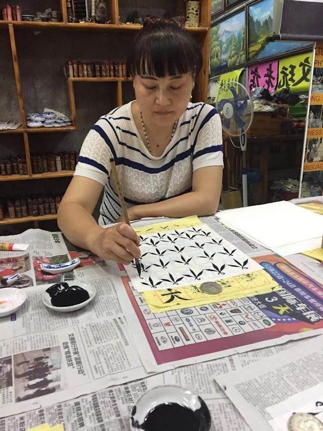 Painting teacher for Chinese Brush Painting