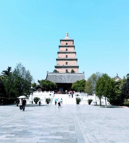 Big Wild Goose Pagoda Park Xian 3 min
