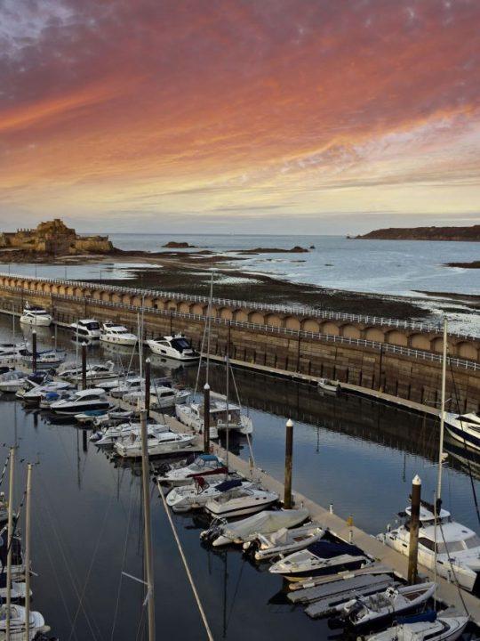 Elizabeth Castle and St Helier Harbour