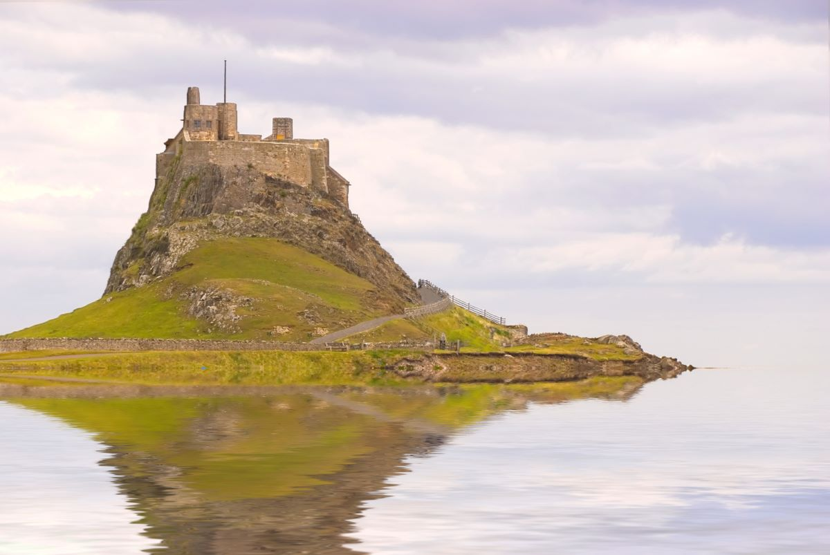Lindisfarne Castle on Holy Island - one of Britain's best island churches